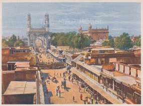 Hyderabad: View of the Principal Entrance Street.
