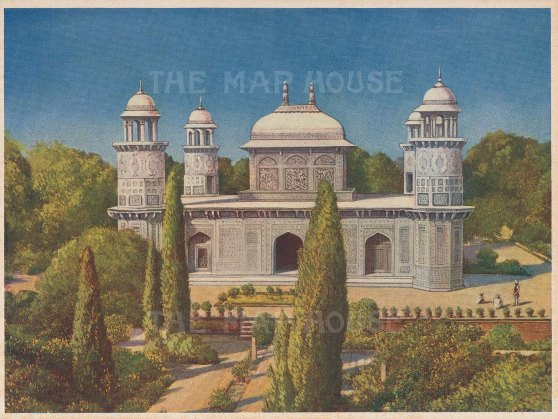 Agra: Masoleum of Etmauddaula on the Yamuna river.