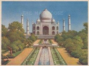 Agra: The Taj Mahal.