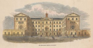 Middlesex Hospital: View of the front elevation.