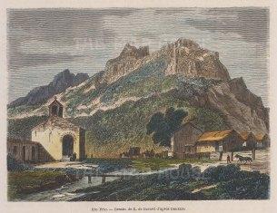 "Garnier: Rio Frio, Puerto Rico. 1876. A hand coloured original antique wood engraving. 6"" x 5"". [WINDp1020]"