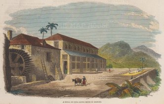 Cocoa-drying house in Grenada.