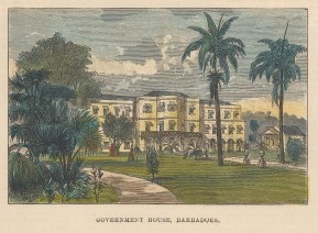 Government House. View of the house and gardens.