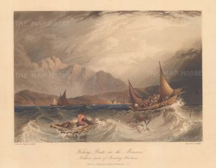 Bombay Harbour: View in the northern harbour between the mainland and the island of Salsette. After Lt Col John Johnson.