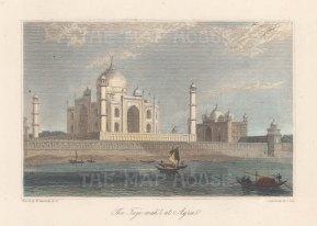 Agra: Taj Mahal. After William Daniell.