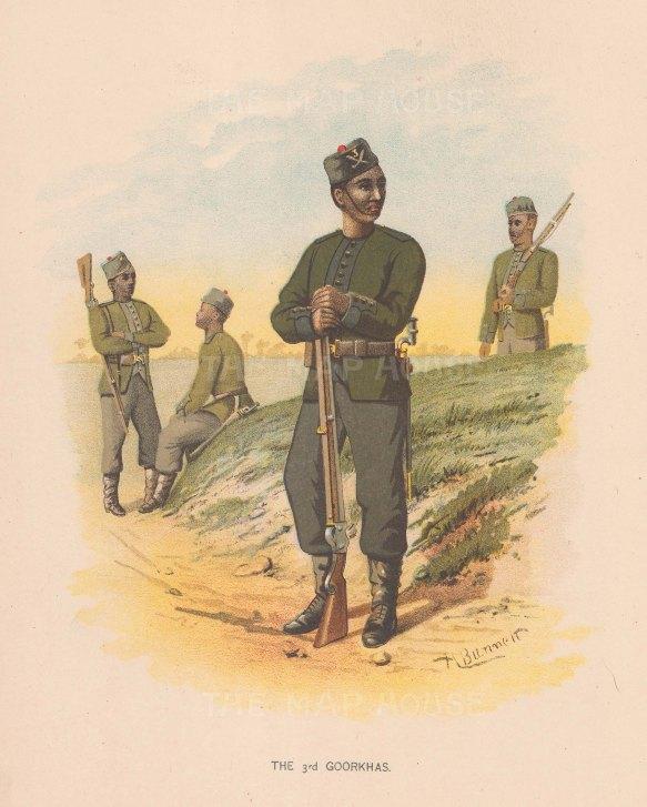 The Third Gurgkhas. India.