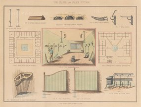 Tack Room, Stable Plans and details of fittings.