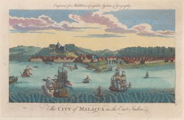 View of the Dutch Fort and approaching galleons based on a earlier view.