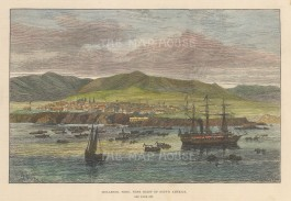 Panoramic view of the port and west coast.