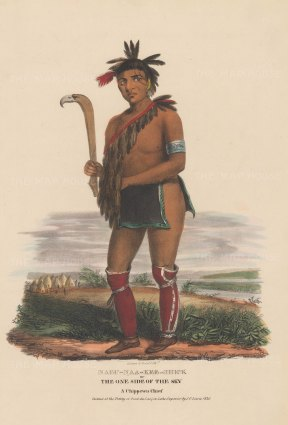 Nabu-Naa-Kee-Shick or One Side of the Sky: A Chippewa Chief.