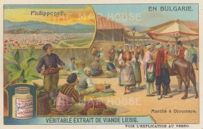 Philippopoli (Plovdiv): View of the city and the market at Djoumaya.