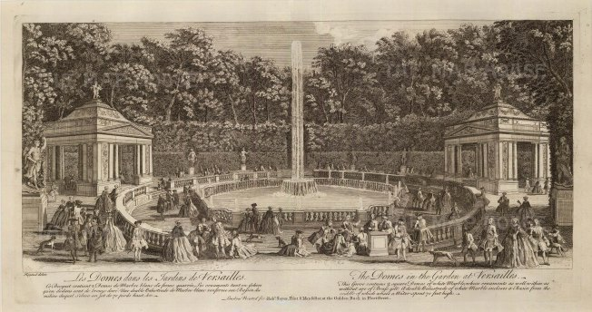 Versailles: View of the Grove of the Domes
