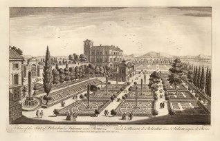 Palazzo Apostolico: View of the Cortile del Belvedere designed by Donato Bramante in the early 16th century.