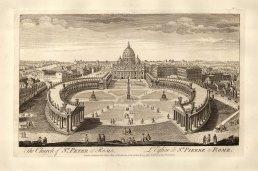 "Sayer: St Peter's, Rome. 1774. An original antique copper engraving. 18"" x 12"". [ITp2130]"