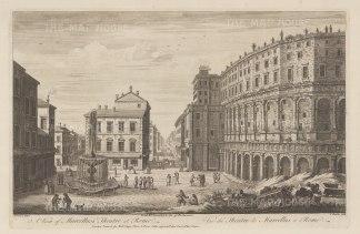Teatro Marcello and Via del Foro Piscario: After Giovanni Piranesi.