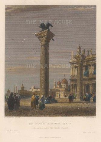 Piazza San Marco: Colonne San Marco. After Richard Bonnington.