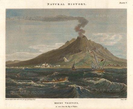 "Duppa: Mount Vesuvius. 1797. A hand coloured original antique copper engraving. "" x 7"". [ITp2237]"