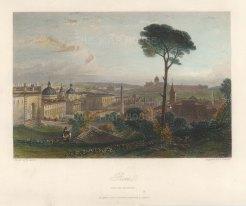 "Leitch: Rome. c1840. A hand coloured original antique steel engraving. 9"" x 6"". [ITp2246]"