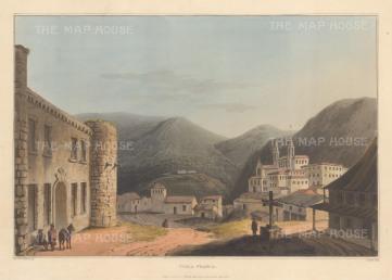 """Bradford: Villa Franca. 1809. An original colour antique aquatint. 13"""" x 9"""". [PORp163]"""
