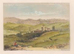 """Vivian: Vitoria. 1838. An original colour antique lithograph. 9"""" x 7"""". [SPp991]"""