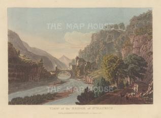 """Ackermann: St Maurice. 1820. An original colour antique aquatint. 9"""" x 6"""". [SWIp758]"""